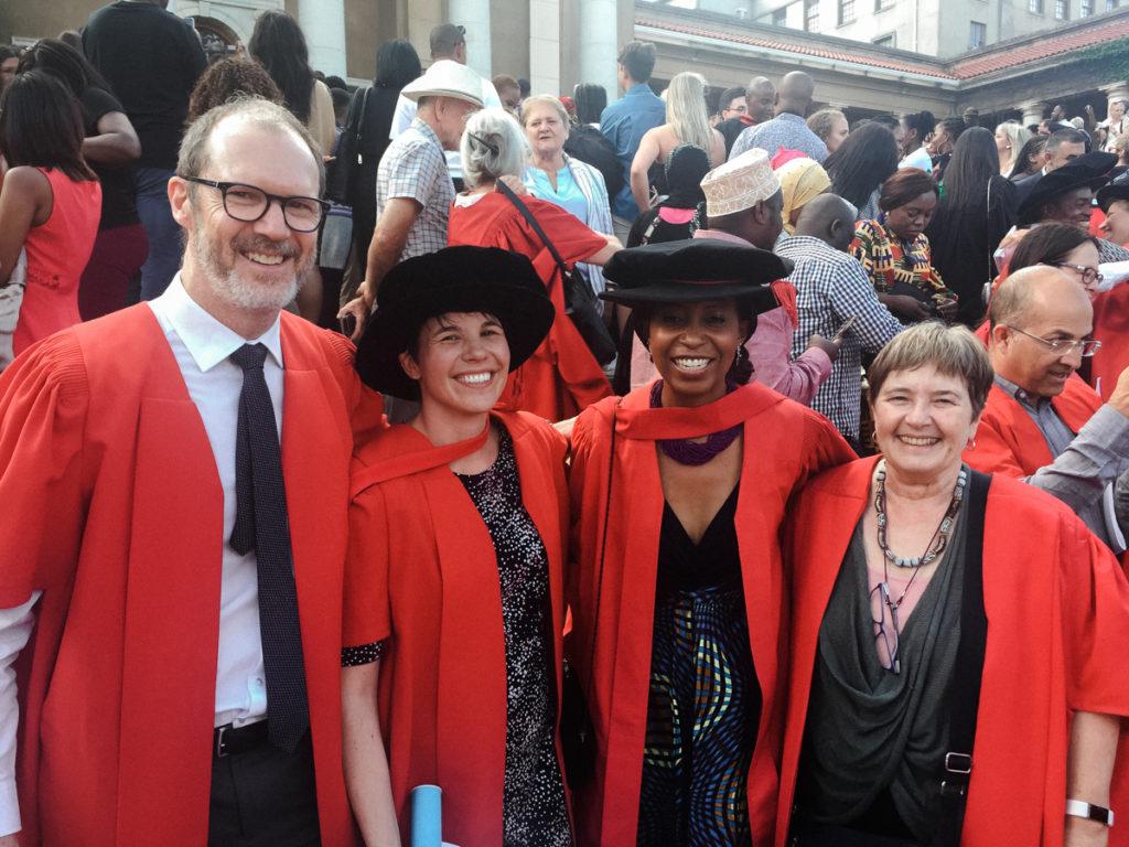 Crick Lund, Erica Breuer, Memory Nyatsanza and Marguerite Schneider